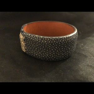 Genuine David Hodges stingray leather cuff